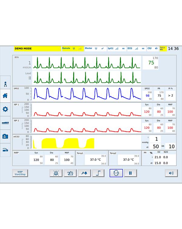 江苏核磁监护仪-背景双颜色显示
